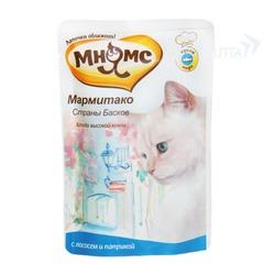 Мнямс паучи для кошек Мармитако Страны Басков (лосось с паприкой), 85 гр.