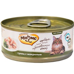 Мнямс консервы для кошек Тунец с макрелью в нежном желе, 70 гр.