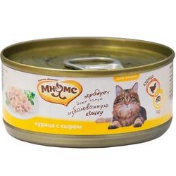 Мнямс консервы для кошек Курица с сыром в нежном желе , 70 гр.