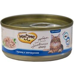 Мнямс консервы для кошек Тунец с анчоусами в нежном желе , 70 гр.