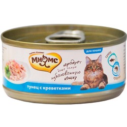 Мнямс консервы для кошек Тунец с креветками в нежном желе , 70 гр.