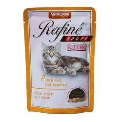 Animonda мясо индейки, сердце и морковь Rafin Soup Kitten для котят, 100 гр. х 12 шт.