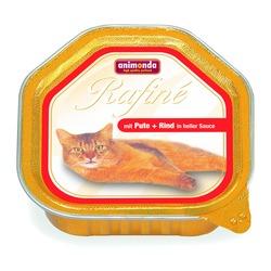 Animonda рагу из мяса индейки, говядины в светлом соусе Rafin? Ragout, 100 гр. х 32 шт.