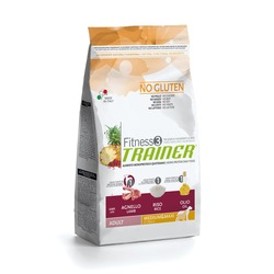 Trainer Fitness3 No Gluten Medium/Maxi Adult Lamb and Rice