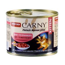 Animonda с говядиной и сердцем индейки для котят Carny Kitten, 200 гр. х 6 шт.