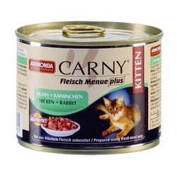 Animonda с курицей и кроликом для котят Carny Kitten, 200 гр. х 6 шт.