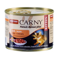 Animonda с телятиной и курицей котят Carny Kitten, 200 гр. х 6 шт.