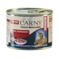 Animonda с говядиной и сердцем индейки для кошек старше 7 лет Carny Senior, 200 гр. х 6 шт.