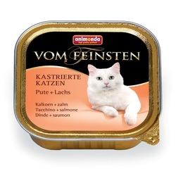 Animonda с индейкой и лососем Vom Feinsten Adult для кастрированных кошек, 100 гр. х 32 шт.