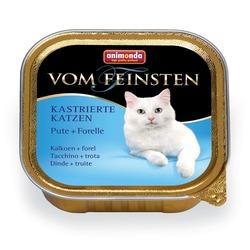 Animonda с индейкой и форелью Vom Feinsten Adult для кастрированных кошек, 100 гр. х 32 шт.