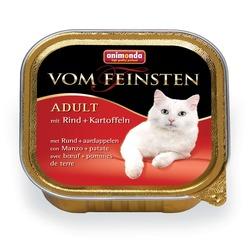 Animonda с говядиной и картошкой Vom Feinsten Adult для взрослых кошек, 100 гр. х 32 шт.