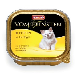 Animonda с мясом домашней птицы для котят Vom Feinsten Kitten для котят, 100 гр. х 32 шт.