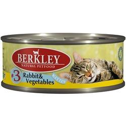 Berkley №3 кролик с овощами, консервы для котят, 100 гр.