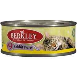 Berkley №9 мясо кролика, консервы для кошек, 100 гр.