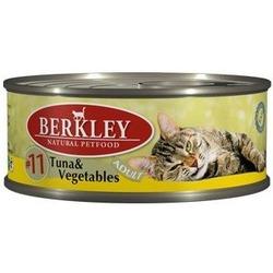 Berkley №11 тунец с овощами, консервы для кошек, 100 гр.