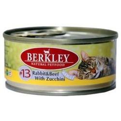 Berkley №13 кролик и говядина с цукини, консервы для кошек, 100 гр.