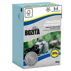 Bozita Sensitive Diet&Stomach Кусочки в желе с мясом лося для кошек с чувствительным пищеварением, 190 гр.