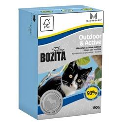 Bozita Outdoor&Active Кусочки в желе с мясом лося для активных кошек, 190 гр.