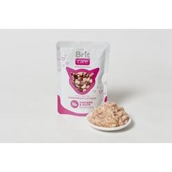 Brit Care курица и утка, консервы для кошек Chicken & Duck 80 гр. х 24 шт.