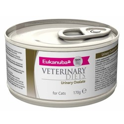 Eukanuba Oxalate Urinary лечебный корм уринари для кошек мочекаменная болезнь оксалаты, 170 гр. х 12 шт.