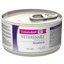 Eukanuba Dermatosis FP для кошек при воспалительных заболеваниях кожи, 170 гр. х 12 шт.