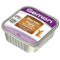 Gemon Cat консервы для пожилых кошек паштет курица и индейка 100 гр.