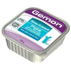 Gemon Cat Sterilized консервы для стерилизованных кошек паштет тунец 100 гр.
