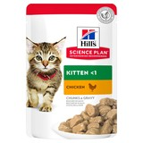 Hill`s консервы для котят с курицей, мягкая упаковка, Science Plan Kitten with Chicken, 85 гр. х 12 шт.