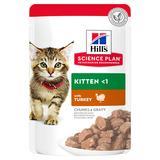 Hill`s консервы для котят с индейкой, мягкая упаковка, Science Plan Kitten Turkey, 85 гр. х 12 шт.