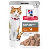 Hill`s для стерилизованных кошек до 6 лет, с индейкой, мягкая упаковка, 85 гр. х 12 шт.