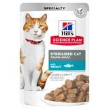 Hill`s для стерилизованных кошек до 6 лет, с форелью, мягкая упаковка, 85 гр. х 12 шт.