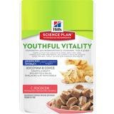 Hill`s Youthful Vitality Влажный корм для пожилых кошек 7+ с лососем Science Plan Youthful Vitality, 85 гр. х 12 шт.