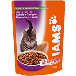 Iams® Adult с мясом кролика в желе, 22 шт. х 100 гр.