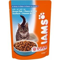 Iams® Adult с океанической рыбой в соусе, 22 шт. х 100 гр.