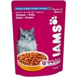 Iams® Mature&Senior с курицей в соусе, 22 шт. х 100 гр.