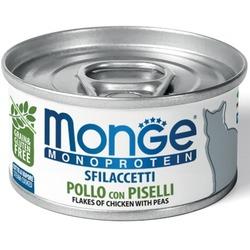 Monge Cat Monoprotein хлопья для кошек из курицы с горошком 80г