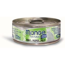 Monge Cat Natural консервы для кошек тунец с курицей 80 гр.