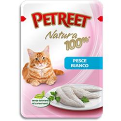 Petreet пауч для кошек Белая рыба, 85 г