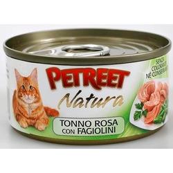 Petreet кусочки розового тунца с зеленой фасолью, консервы для кошек, 70 гр.