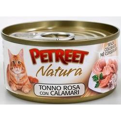 Petreet кусочки розового тунца с кальмарами, консервы для кошек, 70 гр.