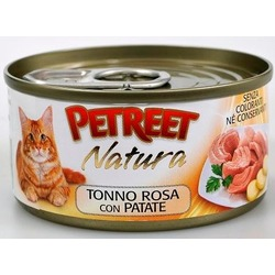 Petreet кусочки розового тунца с картофелем, консервы для кошек, 70 гр.