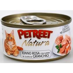 Petreet кусочки розового тунца с крабом сурими, консервы для кошек, 70 гр.