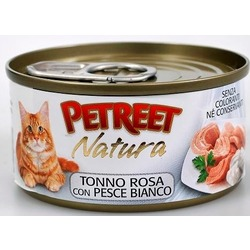Petreet кусочки розового тунца с рыбой дорада, консервы для кошек, 70 гр.