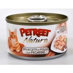 Petreet куриная грудка с печенью, консервы для кошек, 70 гр.