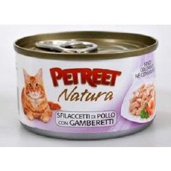 Petreet куриная грудка с креветками, консервы для кошек, 70 гр.