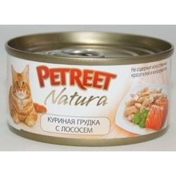 Petreet куриная грудка с лососем, консервы для кошек, 70 гр.