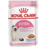 Royal Canin Kitten Instinctive,кусочки мяса в желе для котят от 4 до 12 мес., 85гр.х12шт.