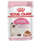 Royal Canin Kitten Instinctive,кусочки мяса в соусе для котят от 4 до 12 мес., 85гр.х12шт.