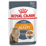 Royal Canin Intens Beаuty 12, кусочки в желе (мясо и рыба), для здоровья шерсти и кожи, 85гр.х12шт.