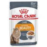 Royal Canin Intense Beаuty, кусочки в соусе (мясо и рыба), для здоровья шерсти и кожи, 85 гр. х 24 шт.